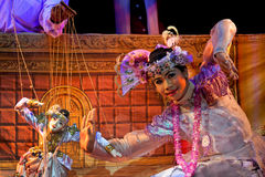 Mandalay-Marionetten-Theater Lizenzfreies Stockbild