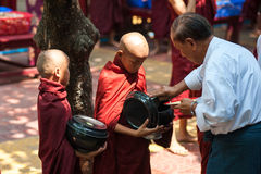 MANDALAY, MYANMAR-MAY 2 : Young unidentified buddhist novices at Stock Image