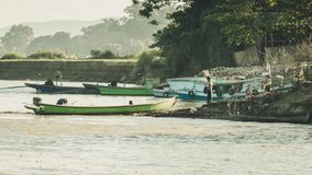 Life on the other side of the river in Mandalay, Myanmar Burma royalty free stock photos