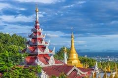 Mandalay Hill Myanmar. MANDALAY, MYANMAR - SEP 03 : A panoramic view of Mandalay from the top of Mandalay Hill in Myanmar on September 03 2017 , Mandalay Hill is Royalty Free Stock Photo