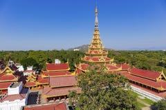 Mandalay Palace Aerial View Royalty Free Stock Photo