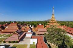 Mandalay Palace Aerial View Royalty Free Stock Images