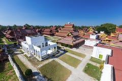 Mandalay Palace Aerial View Stock Photos