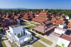 Mandalay Palace Aerial View Stock Photography