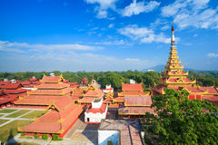 Mandalay palace, Mandalay, Myanmar Royalty Free Stock Photos