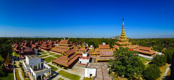 Mandalay palace, Mandalay, Myanmar. Panorama of Mandalay palace, Myanmar royalty free stock photo