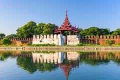 Mandalay Palace Moat Royalty Free Stock Images