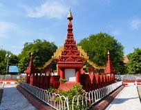 Mandalay palace on a sunny day. Mandalay palace in Myanmar on a sunny day royalty free stock image