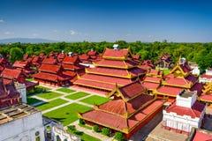 Mandalay Royal Palace immagine stock