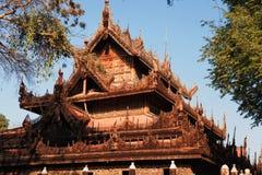 Mandalay Shwe Kyaung Monastery Royalty Free Stock Image