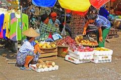 Mandalay Street Vendors, Myanmar Stock Image