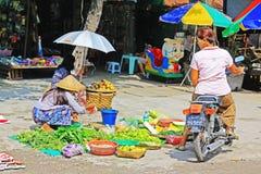 Mandalay Street Vendors, Myanmar Royalty Free Stock Images