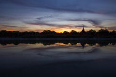 Mandalay zmierzch obrazy royalty free