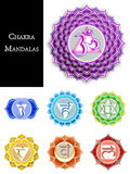 Mandale di Chakra isolate Immagine Stock
