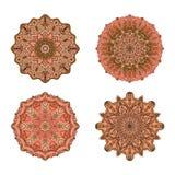 mandale di vettore Insieme colorato della mandala Ornamento rotondo orientale elemento asiatico di progettazione Fotografie Stock