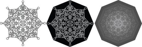 Mandals γεωμετρίας για το χρωματισμό του βιβλίου κύκλος προτύπων Στοκ εικόνα με δικαίωμα ελεύθερης χρήσης