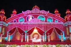 Mandap indiano da fase do casamento Foto de Stock