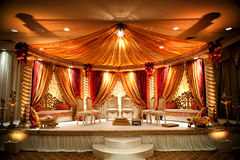 Mandap Wedding indiano Fotografie Stock