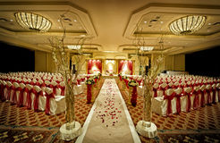 Mandap Wedding indiano Immagini Stock