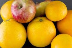 Mandarín de la naranja de Apple Imagen de archivo libre de regalías