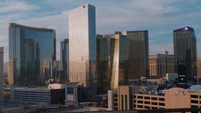 Mandarín y Aria Hotel en Las Vegas - los E.E.U.U. 2017 almacen de video