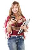 Mandare un sms Immagine Stock Libera da Diritti