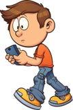 Mandare un sms mentre camminando Immagini Stock