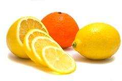 Mandarijn en citroen Stock Foto's