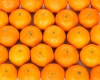 Mandarijn op houten plaat, mandarijnachtergrond Stock Fotografie