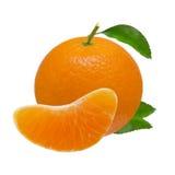 Mandarijn oranje die vruchten op witte achtergrond met het knippen van weg worden geïsoleerd Royalty-vrije Stock Afbeelding