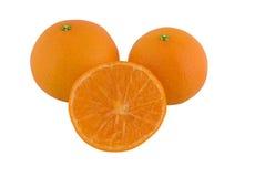 Mandarijn, Satsuma-mandarijn of Mandarijntje Stock Afbeeldingen