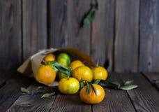Mandarijnensinaasappelen, mandarins, clementines, citrusvruchten stock afbeeldingen