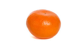 Mandarin. Single mandarin isolated on white background Royalty Free Stock Photos