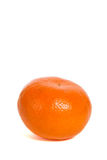 Mandarin. Single mandarin isolated on white background Royalty Free Stock Photo