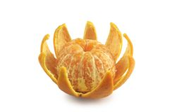 Mandarin. Peeled mandarin. Clipping path included Stock Photos