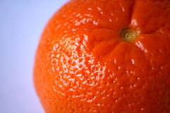 Mandarin. Orange detail with light blue background Stock Photography