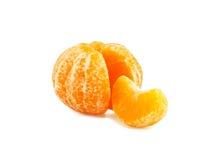 Mandarin. Isolated on white background Royalty Free Stock Images