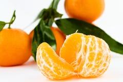 Mandarin. S colorful, isolated on white background, macro studio shot Stock Images