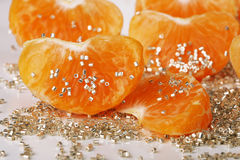 Mandarin. White orange beads fruit Royalty Free Stock Photography