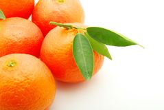 Mandarin. Isolated on a white background Royalty Free Stock Photography