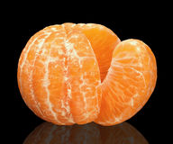 Mandarin on black Royalty Free Stock Image