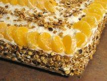 Mandarin cake Stock Photography