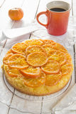 Mandarin cake. Homemade mandarin upside down cake Royalty Free Stock Photo