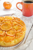 Mandarin cake. Homemade mandarin upside down cake Royalty Free Stock Photography