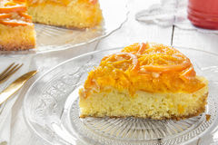 Mandarin cake. Homemade mandarin upside down cake Royalty Free Stock Image