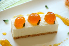 Mandarin Cheese Cake Stock Images