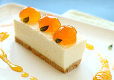 Mandarin Cheese Cake Royalty Free Stock Image