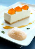 Mandarin Cheese Cake Stock Photo