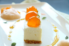 Mandarin Cheese Cake Royalty Free Stock Photography