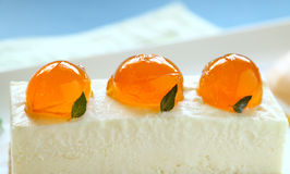 Mandarin Cheese Cake Royalty Free Stock Images